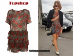 In Peaches Geldof's Closet - Topshop Leopard Bow Tier T-Shirt Dress