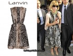 In Anna Wintour's Closet - Lanvin Contrasting Leopard Print Dress