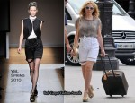 Runway To Gard du Nord Station - Kylie Minogue In YSL