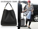 In Rihanna's Closet - Alexander Wang Darcy Studded Leather Bag