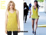 In Jessica Szohr's Closet - Twelfth Street by Cynthia Vincent Beaded Silk Tank