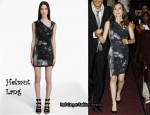 In Ellen Page's Closet - Helmut Lang Skull Print Dress