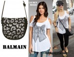 In Paris Hilton's Closet - Lauren Moshi Bow Tee & Balmain Shoulder Bag