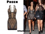 In Kim Kardashian's Closet - Preen Lace Halter Dress