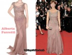 In Natalie Imbruglia's Closet - Alberta Ferretti Embroidered Silk Georgette Dress