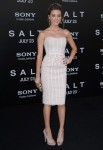 """Salt"" LA Premiere - Amber Heard In Marchesa"
