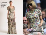 Wimbledon 2010: Day Nine - Anna Wintour In Carolina Herrera