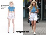 Runway To London Television Studio's - Diana Vickers In Antipodium