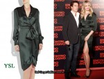 In Cameron Diaz' Closet - YSL Silk Wrap Dress