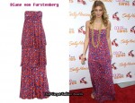 In AnnaLynne McCord's Closet - Diane von Furstenberg Strapless Animal Print Dress