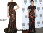 In Keira Knightley's Closet - Erdem Beaded Silk Satin Dress