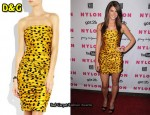 In Ashley Greene's Closet - D&G Strapless Polka Dot Dress