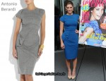 In Ashley Greene's Closet - Antonio Berardi Asymmetrical Tweed Pencil Dress