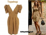 In Kelly Brook's Closet - Topshop Spotty Bubble Sleeve Dress