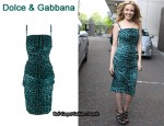 In Kylie Minogue's Closet - Dolce & Gabbana Leopard Print Ruched Dress