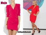 In Emma Bunton's Closet - Maje Silk Wrap Dress