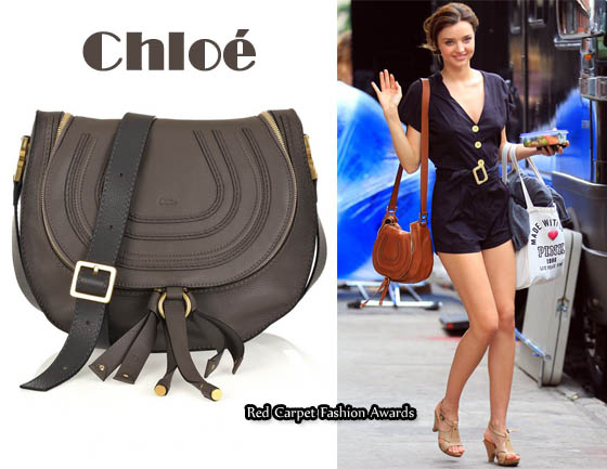 chloe pink handbag - In Miranda Kerr\u0026#39;s Closet - Chlo�� Marcie Hobo Cross-Body leather ...
