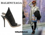 In Rihanna's Closet - Balenciaga Open Toe Slingbacks