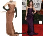 In Rose Byrne's Closet - Lanvin Strapless Satin Dress
