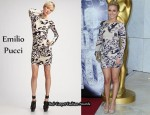 In Hayden Panettiere's Closet - Emilio Pucci Animal Print Draped Dress
