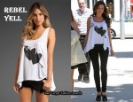 In Kelly Brook's Closet - Rebel Yell Love Hankie Tank