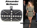 In Drew Barrymore's Closet - Alexander McQueen 'Brittania Punk Skull' Clutch & McQ Alexander McQueen Dress