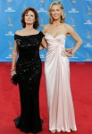 2010 Emmy Awards - Susan Sarandon In Donna Karan & Eva Amurri In Vintage Thierry Mugler From Decades