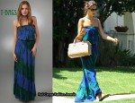 In Alessandra Ambrosio's Closet - T-Bags Strapless Dress