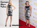 In Marcia Gay Harden's Closet - Carmen Marc Valvo Cotton Twill Print Dress