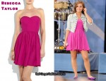 In Demi Lovato's Closet - Rebecca Taylor Pink Strapless Dress