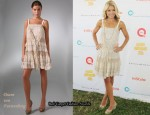 In Kelly Ripa's Closet - Diane von Furstenberg Beige Taleen Dress