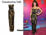 In Lea Michele's Closet - Giambattista Valli Moss Print Dress