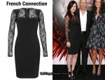 In Rumer Willis Closet - French Connection Lace Sleeve Dress