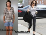 In Jessica Alba's Closet - Madewell Plaid Shirt