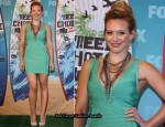 2010 Teen Choice Awards - Hilary Duff In Hervé Léger by Max Azria