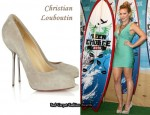 In Hilary Duff's Closet - Christian Louboutin Big Lips 120 Suede Pumps