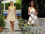 Runway To Photo Shoot - Jessica Alba In Louis Vuitton, Chanel, Christian Dior & Carolina Herrera