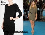 In Drew Barrymore's Closet - McQ Alexander McQueen Knot Shoulder Cape Dress