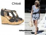 In Stephanie Pratt's Closet - Chloé Cork Wedges