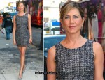 """The Daily Show"" – Jennifer Aniston In Dolce & Gabbana"