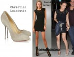 In Hilary Duff's Closet – David Lerner Lace T-Shirt Dress & Christian Louboutin Big Lips 120 Suede Pumps