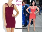 In Katy Perry's Closet - Herve Leger Cut-Out Bandage Dress