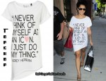 "In Vanessa White's Closet - Topshop ""I Never Think Of Myself As An Icon I Just Do My Thing"" Tee"
