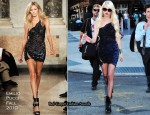 On The Gossip Girl Set With Taylor Momsen In Emilio Pucci