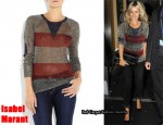 In Louise Redknapp's Closet - Isabel Marant Wilfried Metallic Knitted Top