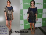 In Eliza Dushku's Closet - Karen Zambos Vintage Couture Lauper Dress