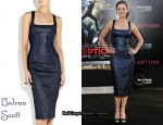 In Marion Cotillard's Closet - L'Wren Scott Metallic Jacquard Dress
