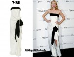 In Patricia Clarkson's Closet - YSL Silk Strapless Gown