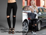 In Alex Curran's Closet - Markus Lupfer Slash Knee Leggings