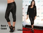 In Khloe Kardashian's Closet - Alice + Olivia Sequin Slim Pants